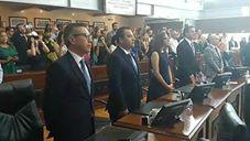 El Dip. Jésus Villareal Macias, y las Diputadas y Diputados tomaron protesta como Presidente e integrantes de la Mesa Directiva en el Congreso del Estado